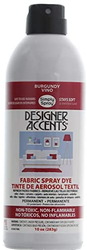 Simply Spray Designer Accents Upholstery Fabric Spray Paint Dye Burgundy (3 Cans)