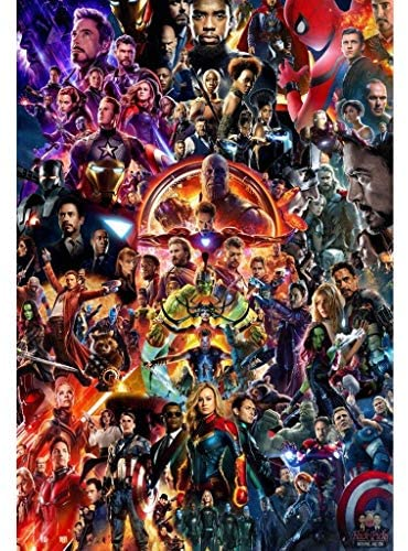 DLL- Avengers League Wooden Jigsaw Puzzles 1000 Pieces, Infinity War Movie Stills Art Educational Toy Decorative Painting Gift Home Decor (Color : A, Size : 1000pc): Kitchen & Dining