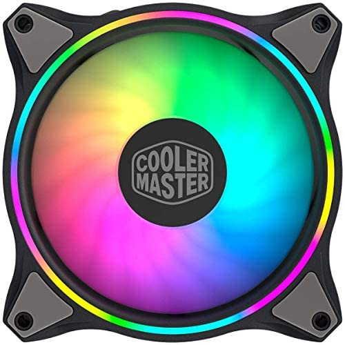 Cooler Master MasterFan MF120 Halo Duo-Ring Addressable RGB Lighting 120mm Fan, Absorbing Rubber Pads, PWM Static Pressure for 5V ARGB Computer Case & Liquid(MF120 Halo): Computers & Accessories