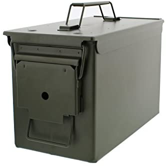 Redneck Convent Metal Ammo Case Can – Military and Army Solid Steel Holder Box for Long-Term Shotgun Rifle Nerf Gun Ammo Storage: Sports & Outdoors