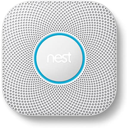 Google Nest Protect Smoke + Carbon Monoxide Alarm, S3000BWES, 2nd Gen, Battery