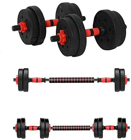 SAQIMA 22LB Adjustable Dumbbell Pair, Dumbbell Combination Environmental Dumbbell Barbell for Strength Training, Weight Loss, Workout Bench, Gym Equipment, and Home Heavy Dumbbells : Sports & Outdoors