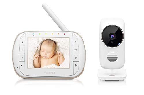 "Motorola Smart Video Baby, Elderly, Pet Monitor with Wi-Fi and 3.5"" Color LCD Display Unit, Night Vision, Two-Way Audio, Room Temperature Display and 5 Lullabies, MBP668CONNECT : Baby"