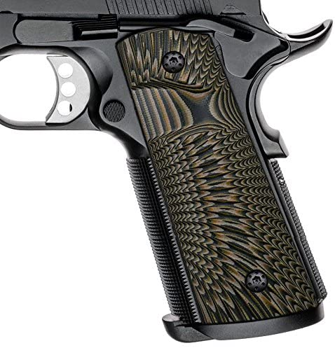 1911 Full Size G10 Grips, Magwell Cut, Big Scoop, Ambi Safety Cut, Sunburst Texture, Coyote Color : Sports & Outdoors