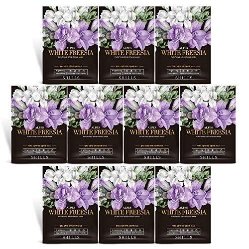 SHILLS Freesia Purifying Mask, Instant Brightening and Hydrating, Deep Moisturizing Care, Anti-Aging Anti-Wrinkle, 8 Pack: Beauty