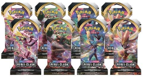 Pokemon Sword and Shield Rebel Clash: 8 Sleeved Booster Packs: Toys & Games