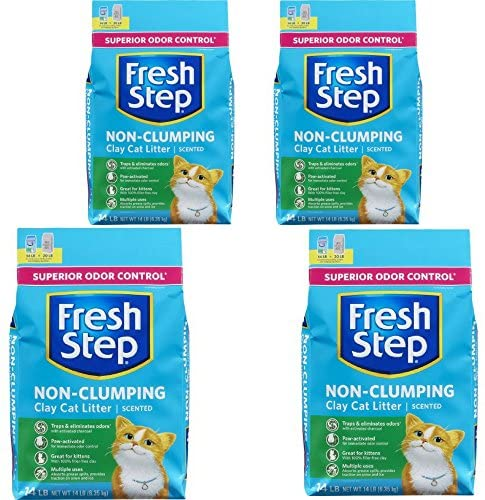 Fresh Step Non Clumping Clay Cat Litter, Scented, 14 lbs 4 : Pet Supplies