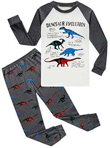 Family Feeling Truck Little Boys Kids Pajamas Sets 100% Cotton Pjs Toddler: Clothing