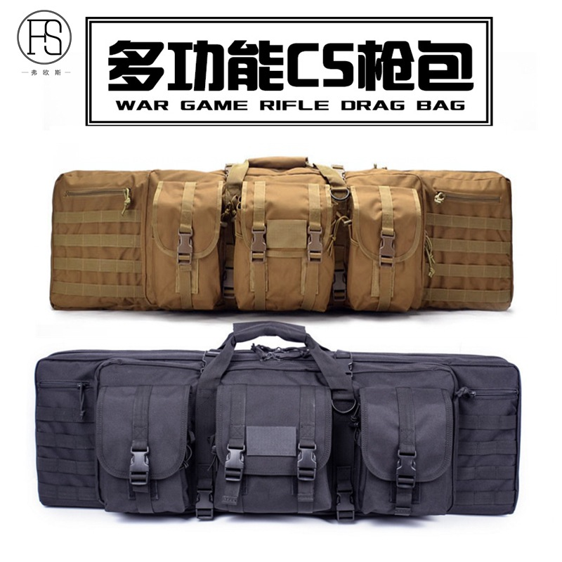 """Savior Equipment American Classic Tactical Double Long Rifle Pistol Gun Bag Firearm Transportation Case w/Backpack - Lockable Compartment, Available Length in 36"""" 42"""" 46"""" 51"""" 55"""": Sports & Outdoors"""