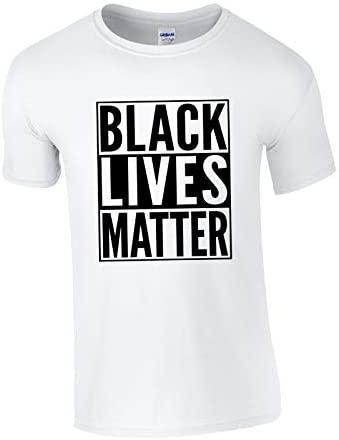 XtraFly Apparel Men's Black Lives Matter BLM America Crewneck Short Sleeve T-Shirt: Clothing