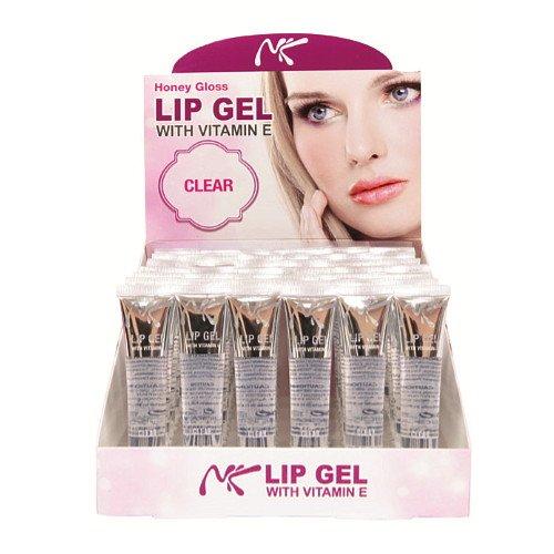 NICKA K Lip Gel Display Case Set 48 Pieces - Clear : Beauty