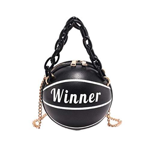 Basketball Shaped Purse, Round Personality Shoulder Handbags Tote Cross Body Messenger PU Bag for Women Girls Travel Shopping: Baby