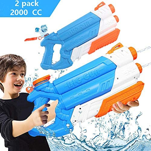 Water Guns Water Blaster Squirt Guns Blaster Soaker for Kids(2Pack),with 2000CC Large Capacity,for Summer Water Fighting Toy Outdoor Pool Beach Yard Adults Swimming Party Water Shooter Fighting Games: Toys & Games
