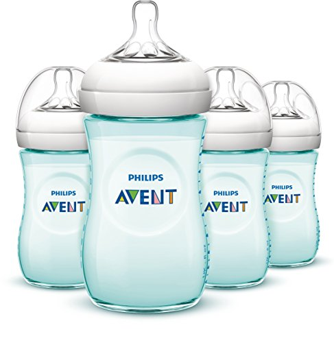 Philips AVENT Natural Bottle, Teal, 9 Ounce, 4 Count : Baby
