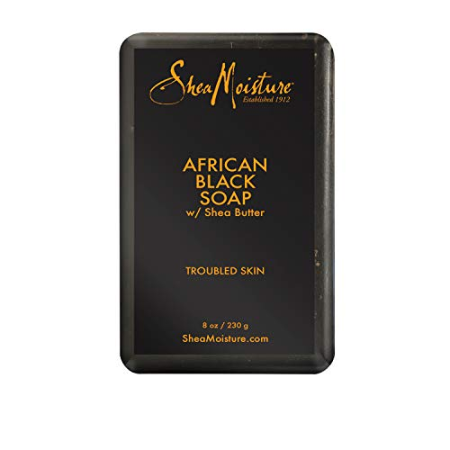 SheaMoisture Bar For Troubled Skin African Black Soap With Shea Butter 8 oz : Facial Soaps : Beauty