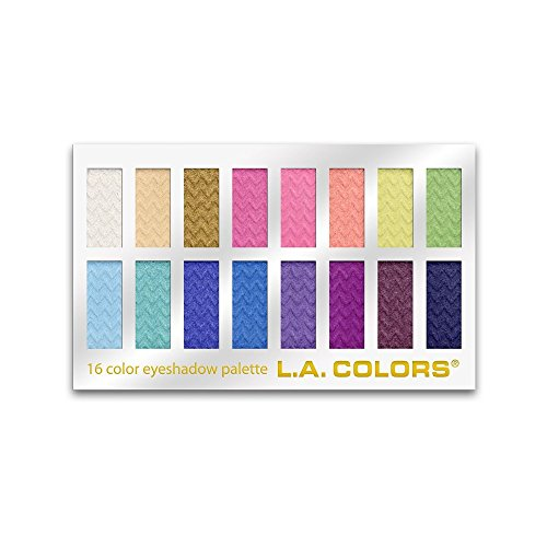 L.A. COLORS 16 Color Eyeshadow Palette, Haute, 1.02 Ounce (LA74202) : Eye Shadows : Beauty