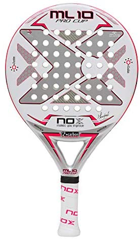 NOX ML10 Pro Cup Silver Paddle Tennis Racket : Sports & Outdoors