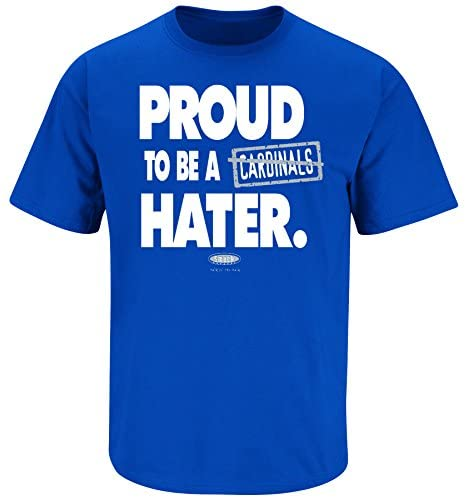 Smack Apparel Kentucky Fans. Proud to Be A Hater Blue T-Shirt (S-5X) : Clothing