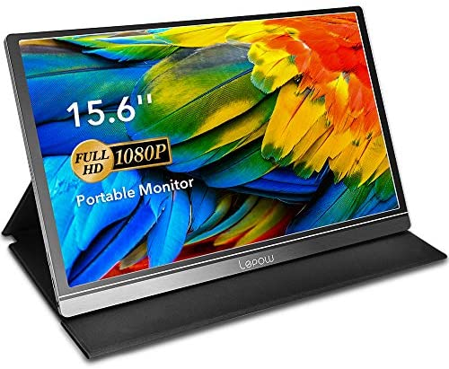 Portable Monitor - Lepow 15.6 Inch Computer Display 1920×1080 Full HD IPS Screen USB C Gaming Monitor with Type-C Mini HDMI for Laptop PC MAC Phone Xbox PS4, Include Smart Cover & Screen Protector: Computers & Accessories