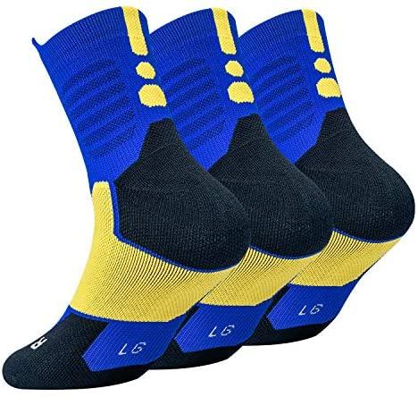 DISILE Elite Basketball Socks, Cushioned Athletic Crew Socks - Thick Sports Socks For Boys Girls Men & Women: Clothing