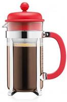 BODUM 1918-294 Caffettiera 8 Cup French Press Coffee Maker, Red, 1.0 l, 34 oz: Home & Kitchen