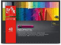 CREATIVE ART MATERIALS Caran D'ache Neopastel Oil Pastels Set/48 (7400.348) : Artists Pastels : Office Products