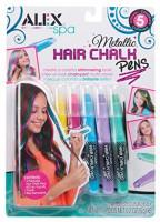Alex Spa 5 Metallic Hair Chalk Pens Girls Fashion Activity: Toys & Games