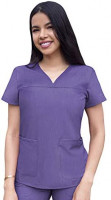 Adar Pro Heather Scrubs for Women - Sweetheart V-Neck Scrub Top: Clothing