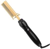 Homfu Electric Hot Comb Hair Straightening Heat Pressing Comb Ceramic Curling Flat Iron Curlers Designed Hair Hot Comb Straightener,Portable Travel Anti-Scald Beard Straightener Press Comb: Health & Personal Care