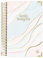 """HARDCOVER bloom daily planners 2021 Calendar Year Day Planner (January 2021 - December 2021) - Passion/Goal Organizer - Monthly & Weekly Inspirational Agenda Book - 6"""" x 8.25"""" - Ethereal Marble : Office Products"""