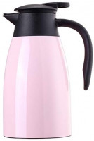 Sumerflos 1.5L/50 Oz Thermal Coffee Carafe - Double Wall Stainless Steel Vacuum Insulated Thermos - Leak Proof Lid with Dust Cover - Cool Touch Handle - Heat and Cold Retention (Pink): Kitchen & Dining