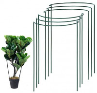UltraOutlet 6 Pack 15.8 Inch Plant Stakes and Supports for Gardening, Metal Plant Support Ring, Plant Cage, Plant Support for Tomato, Peony, Vine : Garden & Outdoor