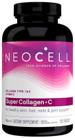 NeoCell Super Collagen with Vitamin C, 250 Collagen Pills, #1 Collagen Tablet Brand, Non-GMO, Grass Fed, Gluten Free, Collagen Peptides Types 1 & 3 for Hair, Skin, Nails & Joints (Packaging May Vary): Health & Personal Care