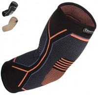 Kunto Fitness Elbow Brace Compression Support Sleeve (Shipped From USA) for Tendonitis, Tennis Elbow, Golf Elbow Treatment - Reduce Joint Pain During Any Activity!: Sports & Outdoors