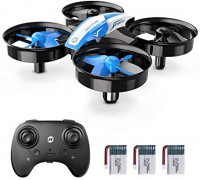 Holy Stone Mini Drone for Kids and Beginners RC Nano Quadcopter Indoor Small Helicopter Plane with Auto Hovering, 3D Flip, Headless Mode and 3 Batteries, Great Gift Toy for Boys and Girls, Blue: Toys & Games