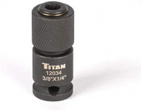 """Titan 12034 3/8"""" Drive to 1/4"""" Hex Drive Quick Change Adapter"""
