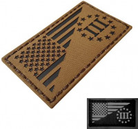 Coyote IR Three Percenter Oathkeeper Infrared USA Flag Tan Tactical Morale Fastener Patch : Sports & Outdoors