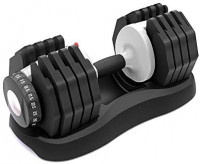 ATIVAFIT Adjustable Dumbbell Fitness Dial Dumbbell with Handle and Weight Plate for Home Gym Note: Single (55) : Sports & Outdoors