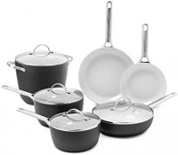 GreenPan Padova Ceramic Non-Stick 10Pc Cookware Set, Grey: Kitchen & Dining