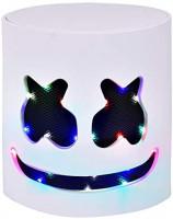 Rednow LED DJ Mask Music Festival Full Head Masks Helmet for Men Women Kids Thanksgiving Christmas Halloween: Clothing