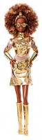 Barbie Collector Star Wars C-3PO x Barbie Doll (~12-inch) in Gold Fashion and Accessories, with Doll Stand and Certificate of Authenticity: Toys & Games