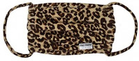 Face Mask Reusable - Adult Face Mask - Luxxe Leopard - Comfortable and Cute - Flexible Smooth StretchyEarloops - Light, Gentle, and Airy - Anti-Wrinkle - for All Day Usage - Flap Happy: Health & Personal Care