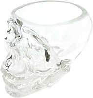 Ebros Crystal Cave Skeleton Skull Glass Bowl 10 Ounces Or Beverage Drink Container Or Office Stationery Holder Figurine Collectible Decor: Home & Kitchen