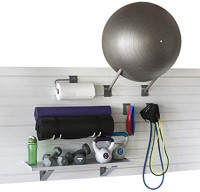 StoreWALL Home Gym Fitness Slatwall Storage and Organization Kit (Graphite Steel): Home & Kitchen