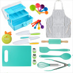 Tovla Jr. Kids Cooking and Baking Gift Set with Storage Case - Complete Cooking Supplies for the Junior Chef - Kids Baking Set for Girls & Boys - Real Accessories & Utensils for the Curious Child: Kitchen & Dining