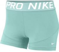 """Nike Women's Pro 3"""" Training Short (Teal Tint/White, X-Large) : Clothing"""