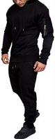 Mens Casual Tracksuit Set Loose Fit Hoodies and Jogging Pants for Men, Jogging Suits and Sports Suit Activewear for Men at Men's Clothing store