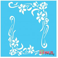 """French Corner Flourishes Vintage Stencil Best Vinyl Large Stencils for Painting on Wood, Canvas, Wall, etc.-XS (6"""" x 8"""")