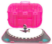 L.O.L. Surprise! Fashion Show On-The-Go Storage/Playset with Doll Included – Hot Pink: Toys & Games
