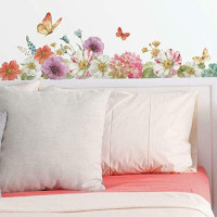 RoomMates RMK3262SCS Lisa Audit Garden Bouquet Peel And Stick Wall Decals, Multi Color
